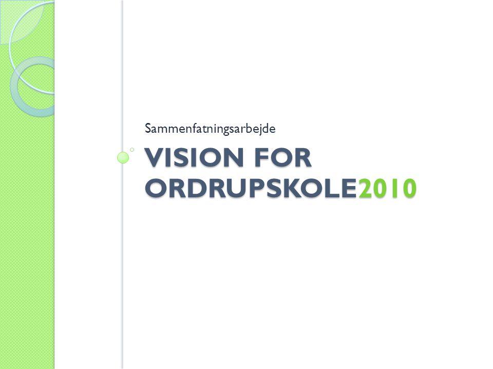 VISION FOR ORDRUPSKOLE2010 Sammenfatningsarbejde