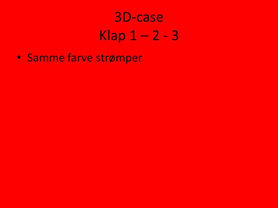 3D-case Klap 1 – 2 - 3 • Samme farve strømper