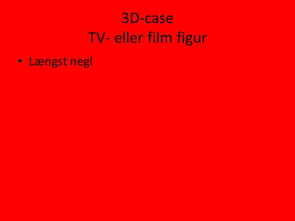 3D-case TV- eller film figur • Længst negl