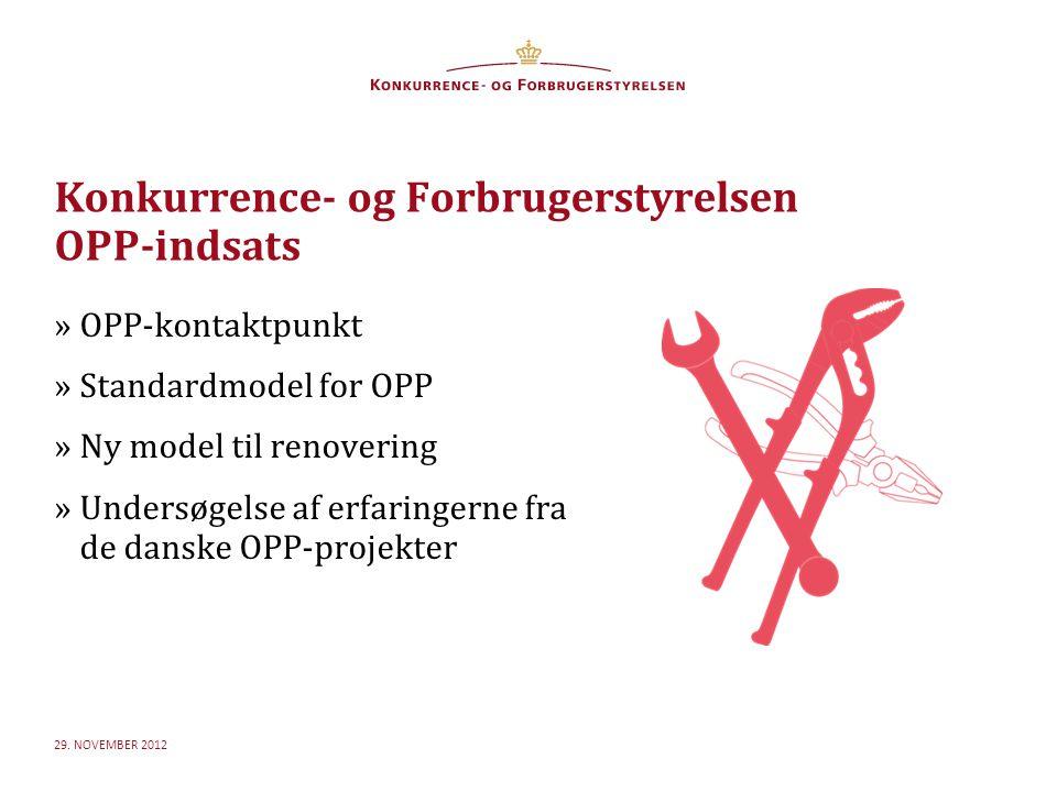 For at skifte mellem de forskellige niveauer og for at få den rigtige bullet frem, brug 'Forøge/Formindske indryk Konkurrence- og Forbrugerstyrelsen OPP-indsats 29.