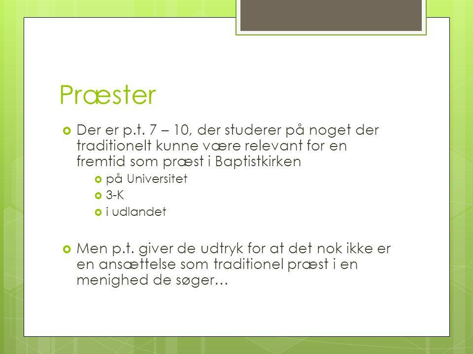 Præster  Der er p.t.