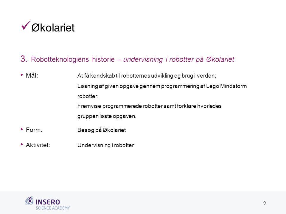 Tekstslide med bullets Brug 'Forøge/Formindske indryk'-knappen for at skifte mellem de forskellige niveauer  Økolariet 3.