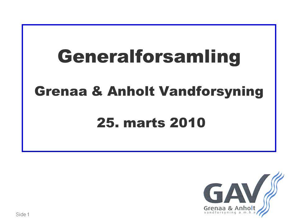 Side 1 Generalforsamling Grenaa & Anholt Vandforsyning 25. marts 2010