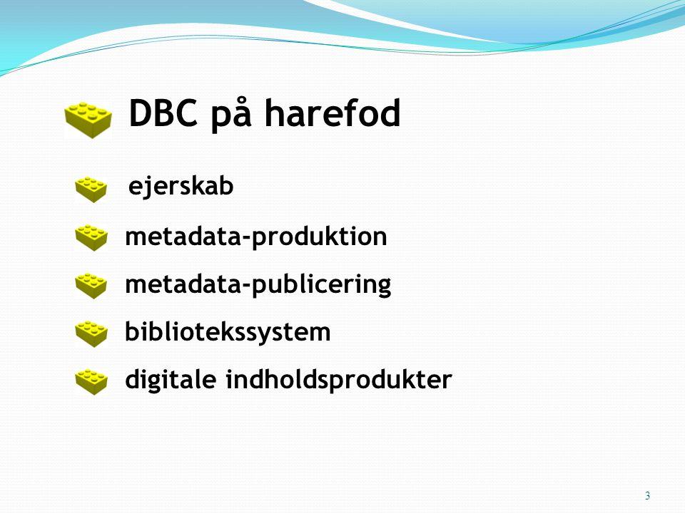 • DBC på harefod • ejerskab • metadata-produktion • metadata-publicering • bibliotekssystem • digitale indholdsprodukter 3
