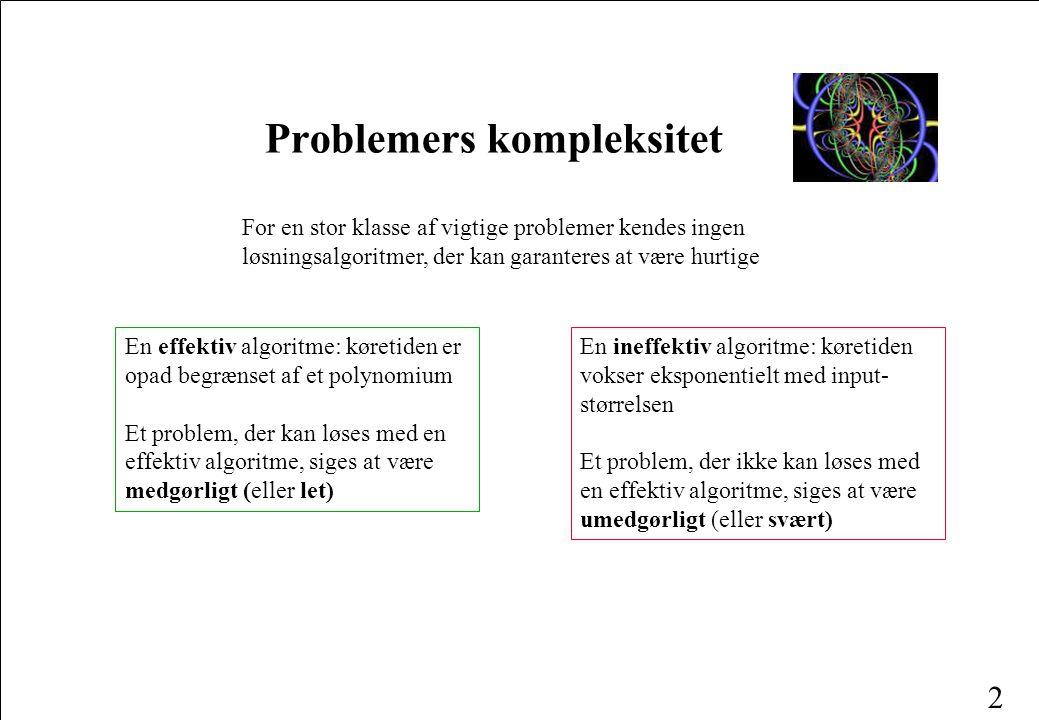 1 Problemkompleksitet