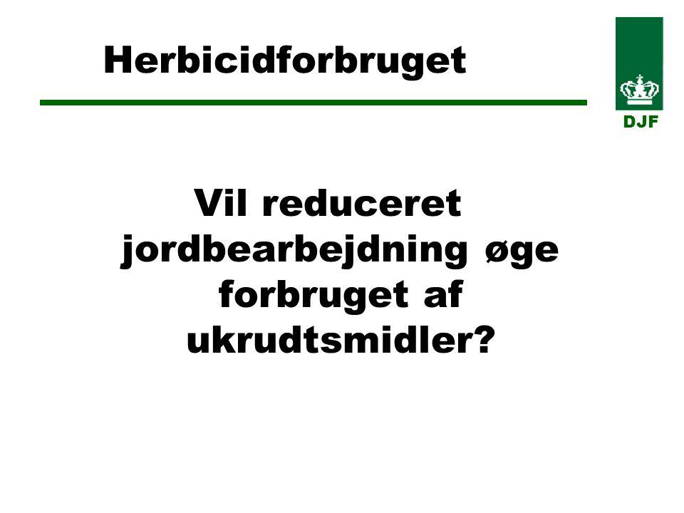 Herbicidforbruget Vil reduceret jordbearbejdning øge forbruget af ukrudtsmidler DJF