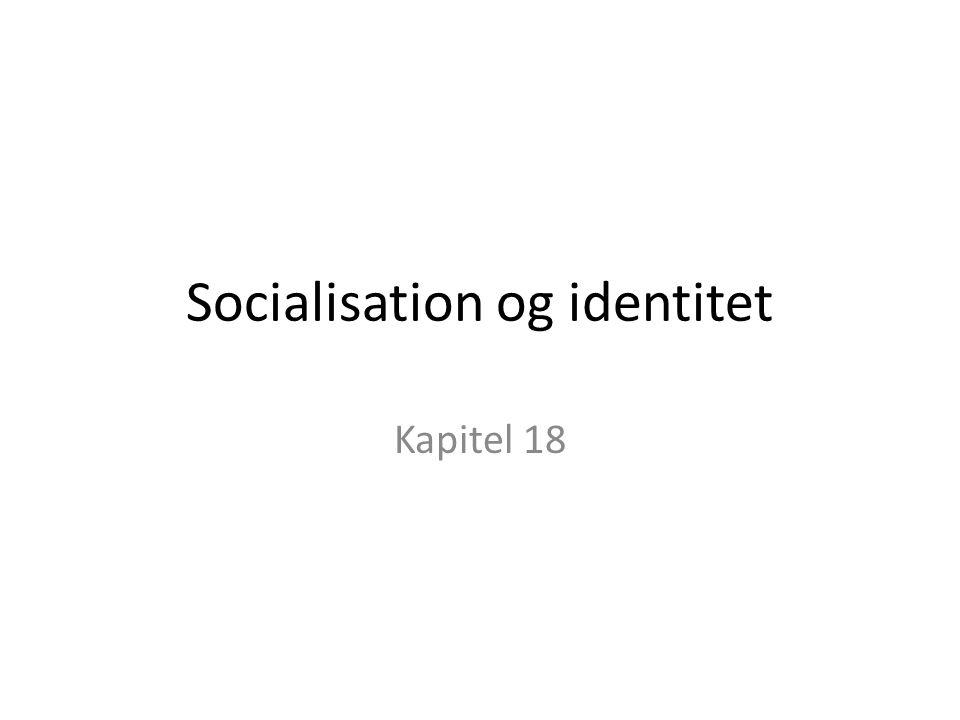 Socialisation og identitet Kapitel 18