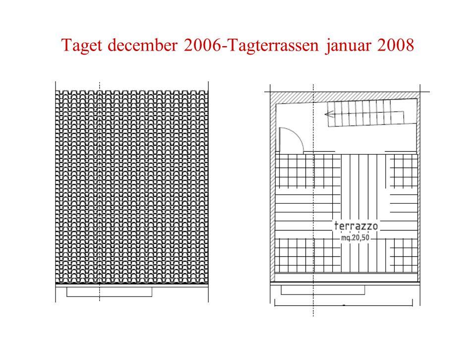 Taget december 2006-Tagterrassen januar 2008