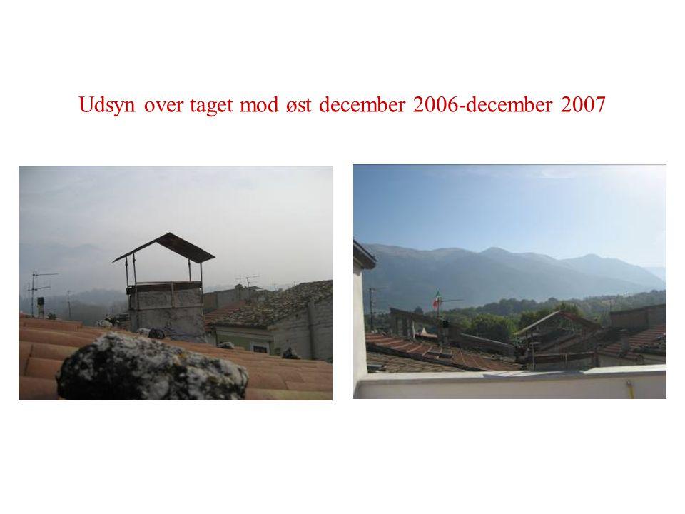 Udsyn over taget mod øst december 2006-december 2007