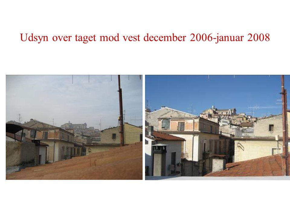 Udsyn over taget mod vest december 2006-januar 2008