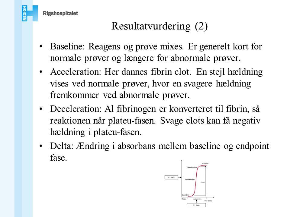 Resultatvurdering (2) •Baseline: Reagens og prøve mixes.
