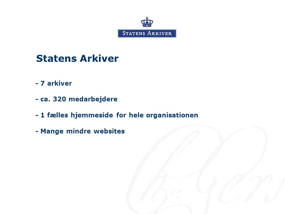 Statens Arkiver - ca.