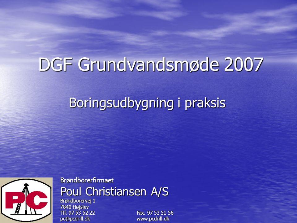 Brøndborerfirmaet Poul Christiansen A/S Brøndborervej 1 7840 Højslev Tlf.