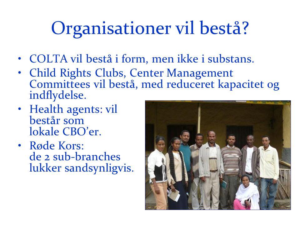 Organisationer vil bestå. •COLTA vil bestå i form, men ikke i substans.