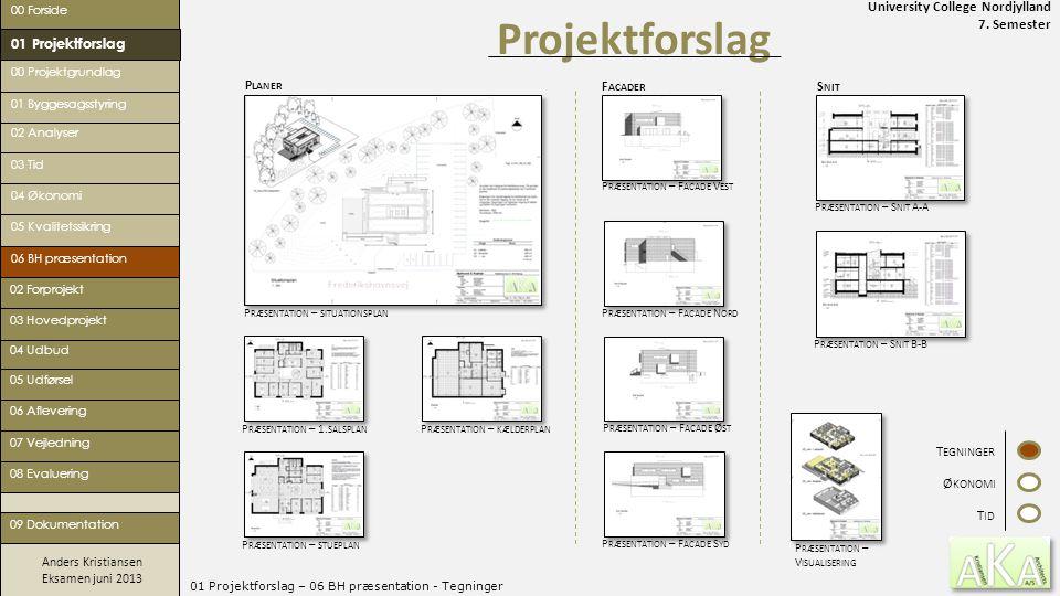 University College Nordjylland 7. Semester Anders Kristiansen Eksamen juni 2013 01 Projektforslag – 06 BH præsentation - Tegninger Projektforslag 00 F