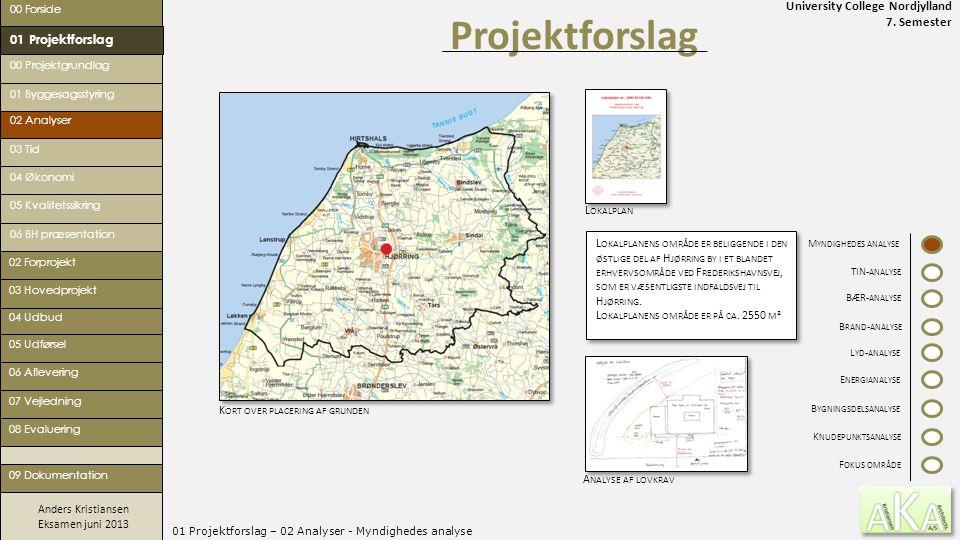 University College Nordjylland 7. Semester Anders Kristiansen Eksamen juni 2013 01 Projektforslag – 02 Analyser - Myndighedes analyse Projektforslag 0
