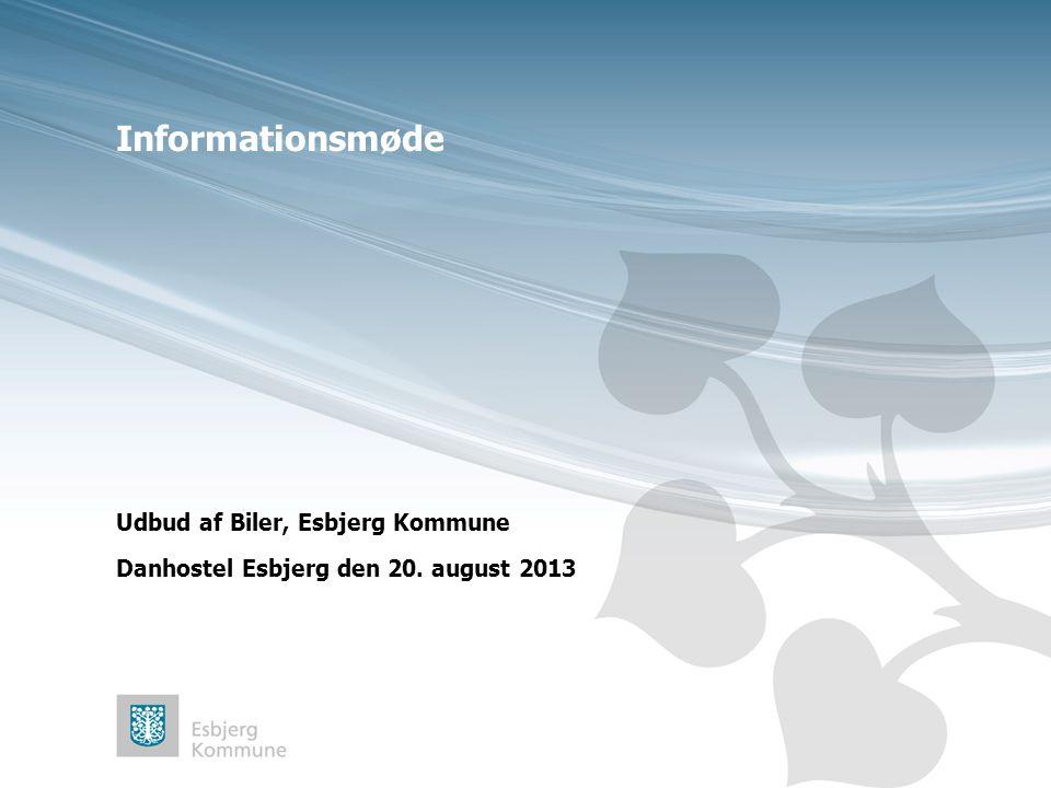 Informationsmøde Udbud af Biler, Esbjerg Kommune Danhostel Esbjerg den 20. august 2013