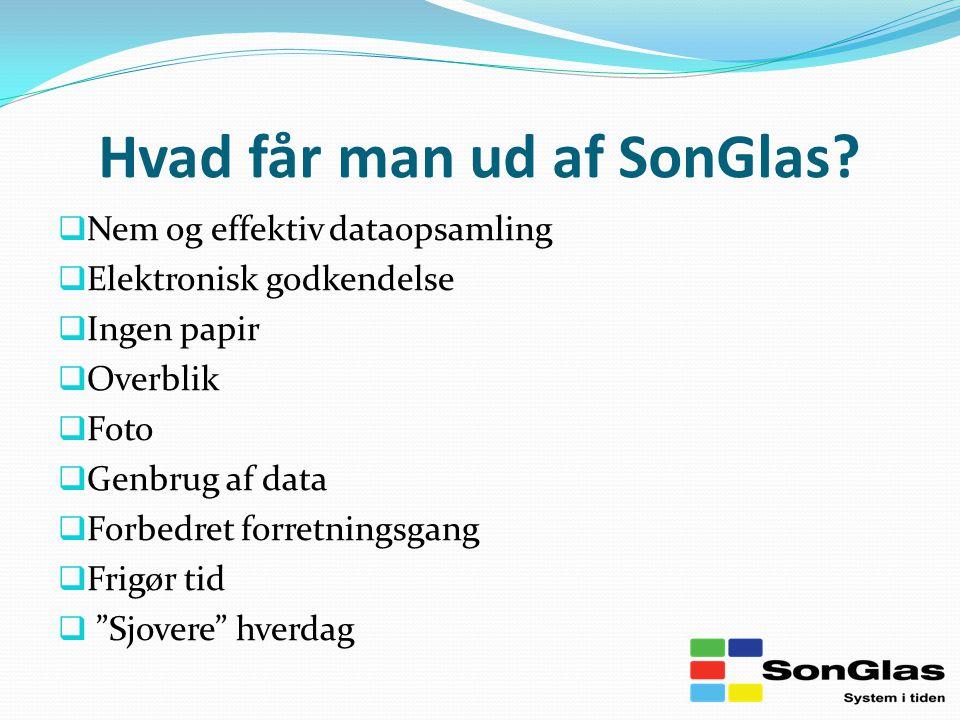 Hvad får man ud af SonGlas.