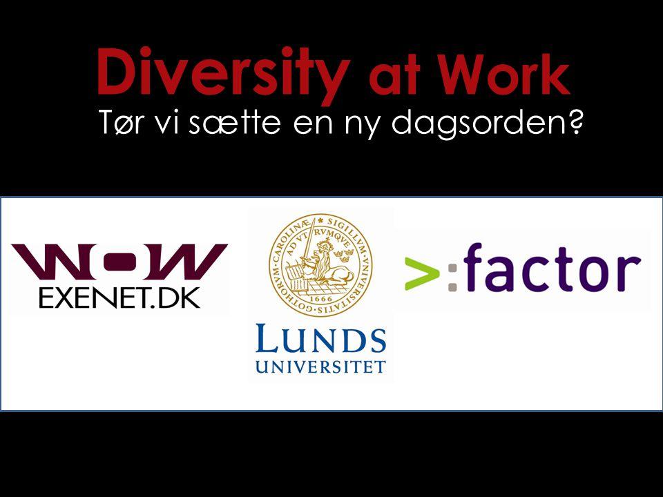 Diversity at Work Tør vi sætte en ny dagsorden