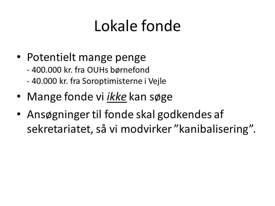 Lokale fonde • Potentielt mange penge - 400.000 kr.