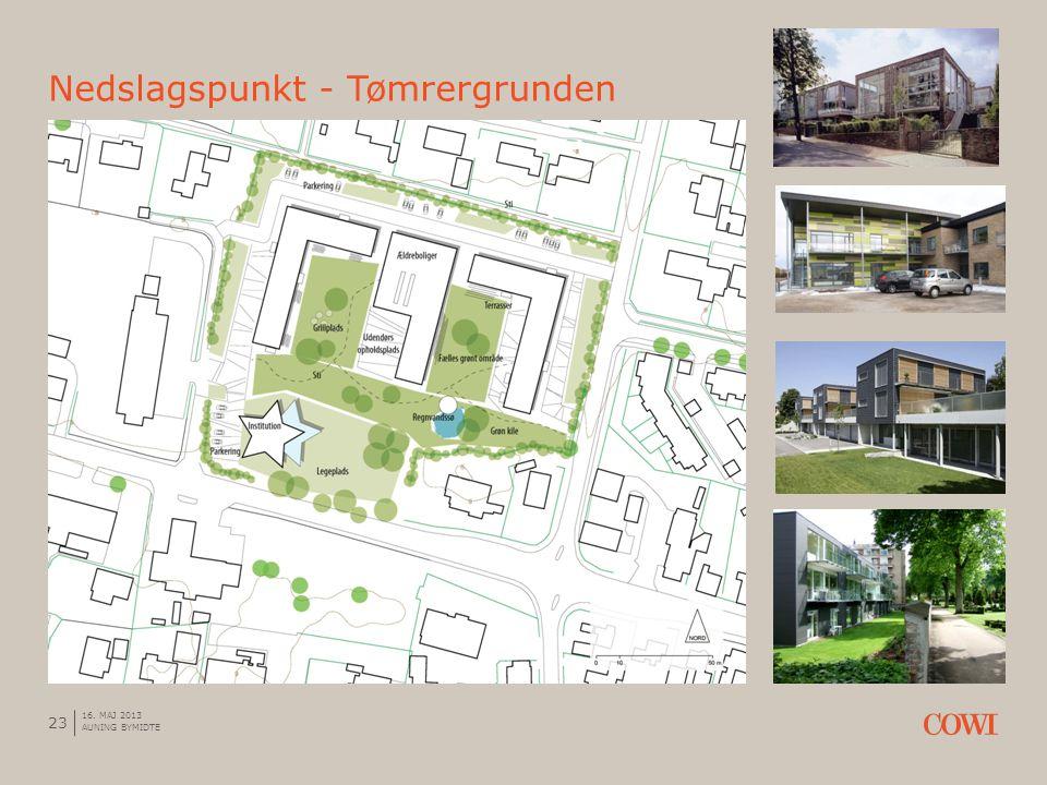 Nedslagspunkt - Tømrergrunden 23 16. MAJ 2013 AUNING BYMIDTE