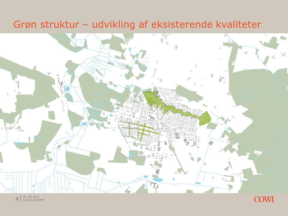 Grøn struktur – udvikling af eksisterende kvaliteter 8 16. MAJ 2013 AUNING BYMIDTE