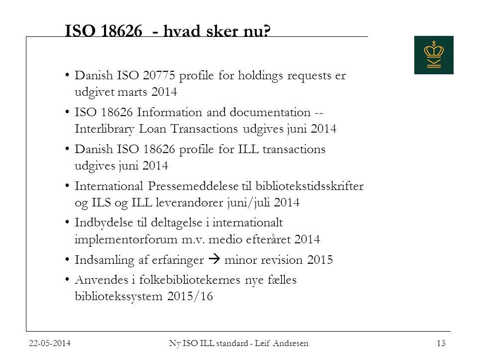 ISO 18626 - hvad sker nu.