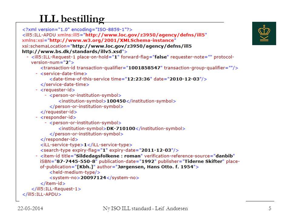 ILL bestilling 22-05-2014Ny ISO ILL standard - Leif Andresen5