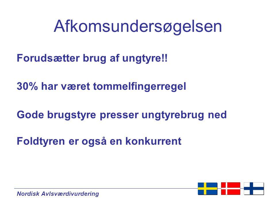 Nordisk Avlsværdivurdering Forudsætter brug af ungtyre!.