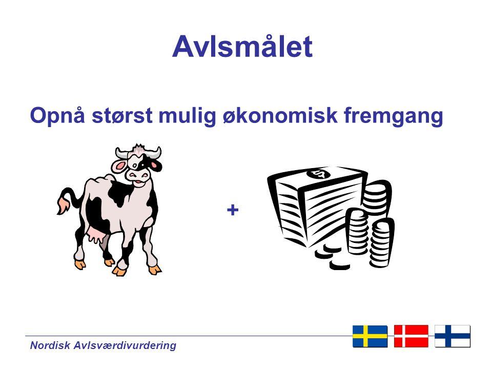 Nordisk Avlsværdivurdering Avlsmålet Opnå størst mulig økonomisk fremgang +