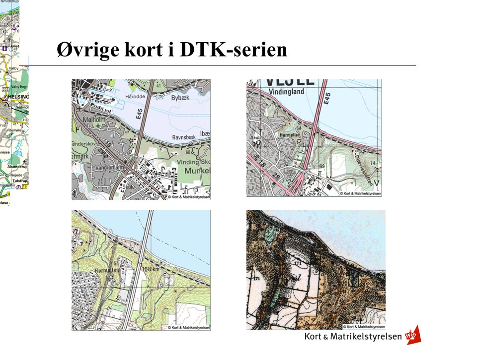Øvrige kort i DTK-serien
