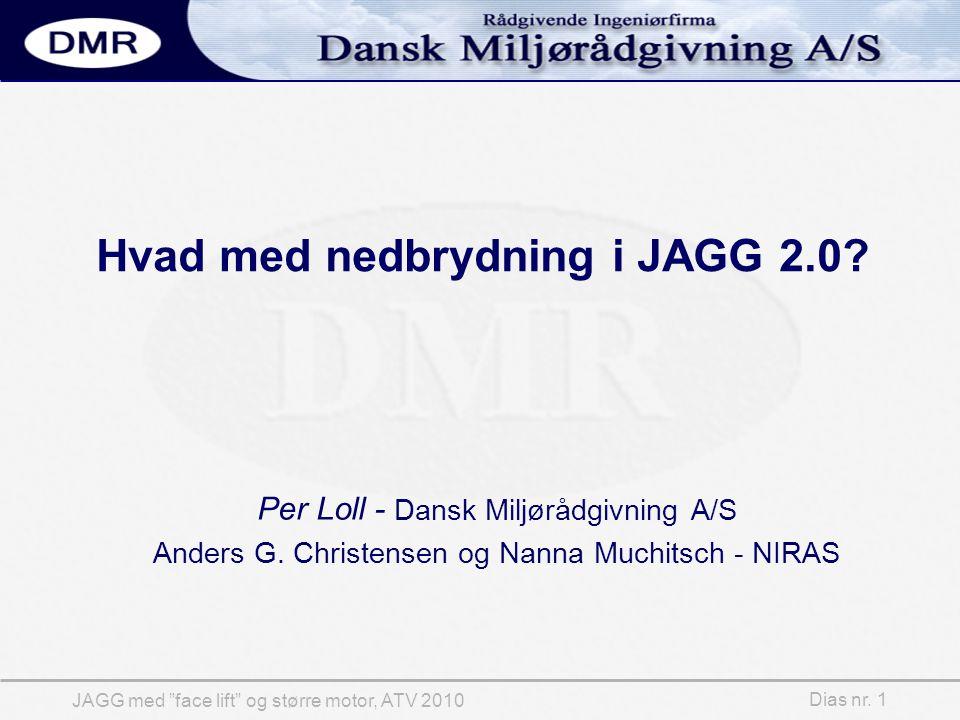 Dias nr. 1 JAGG med face lift og større motor, ATV 2010 Hvad med nedbrydning i JAGG 2.0.