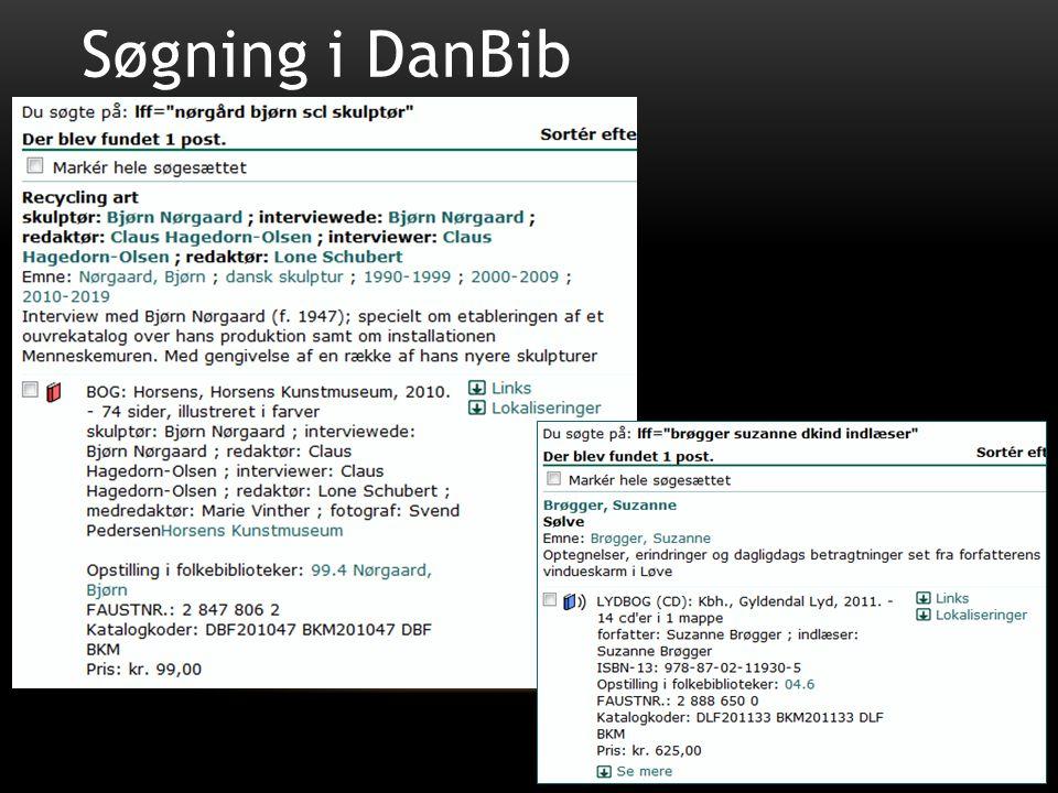 Søgning i DanBib