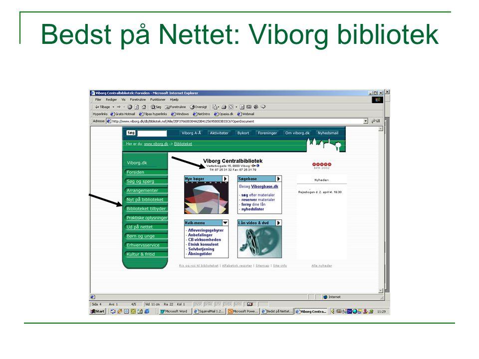 Bedst på Nettet: Viborg bibliotek