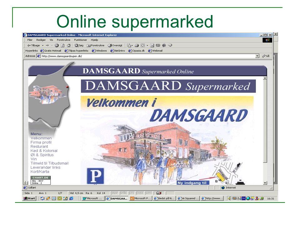 Online supermarked