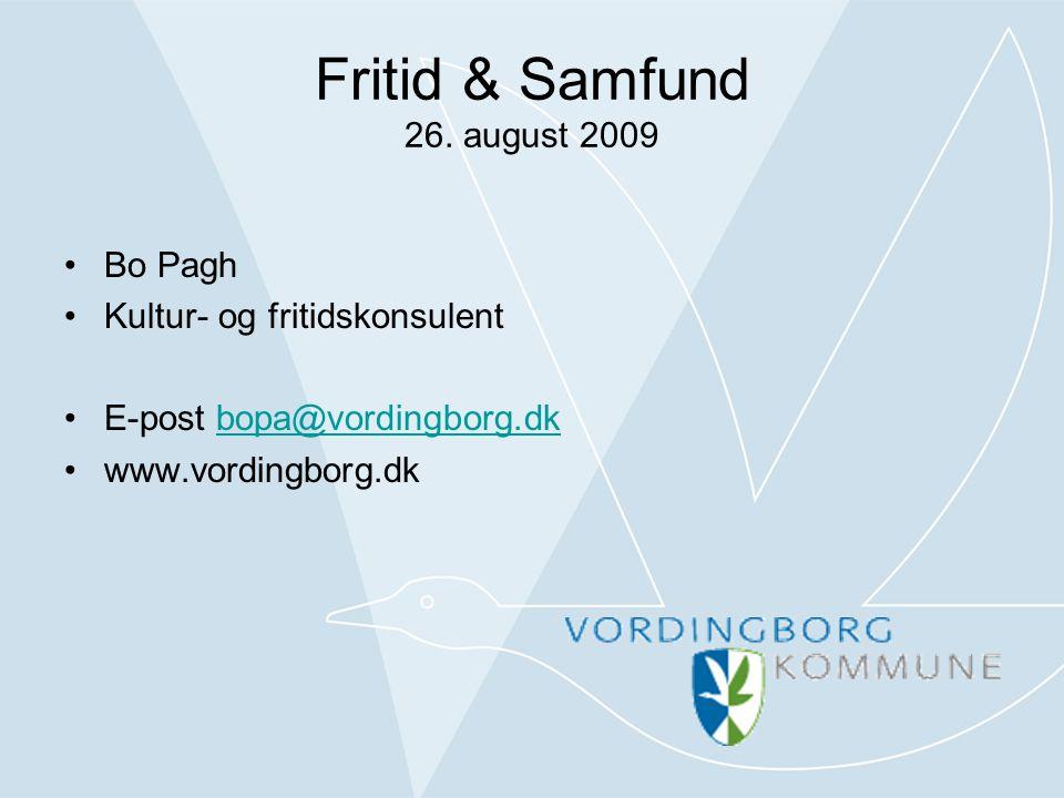 Fritid & Samfund 26.