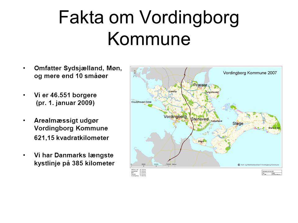 Fakta om Vordingborg Kommune •Omfatter Sydsjælland, Møn, og mere end 10 småøer •Vi er 46.551 borgere (pr.