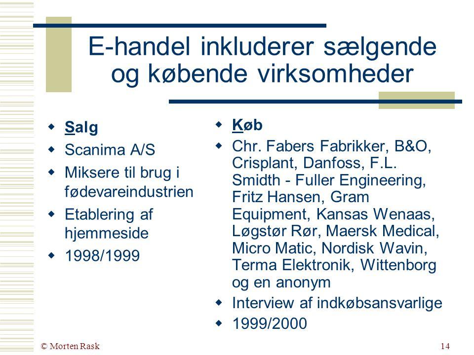 © Morten Rask13 Hvad siger virksomhederne