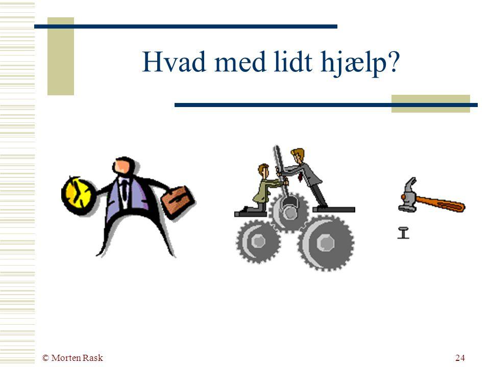 © Morten Rask23 Virksomhedens orientering Handling Netværk Plan