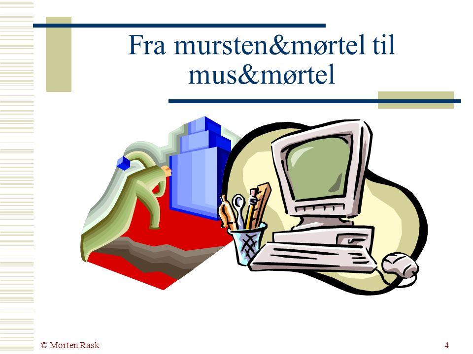 © Morten Rask3 Agenda  Hvorfor mus&mørtel.