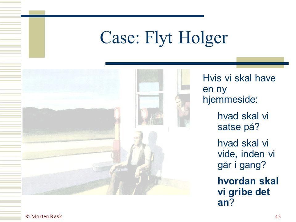 © Morten Rask42 Virksomhedens orientering 1. Netværk 2. Handling 3. Plan