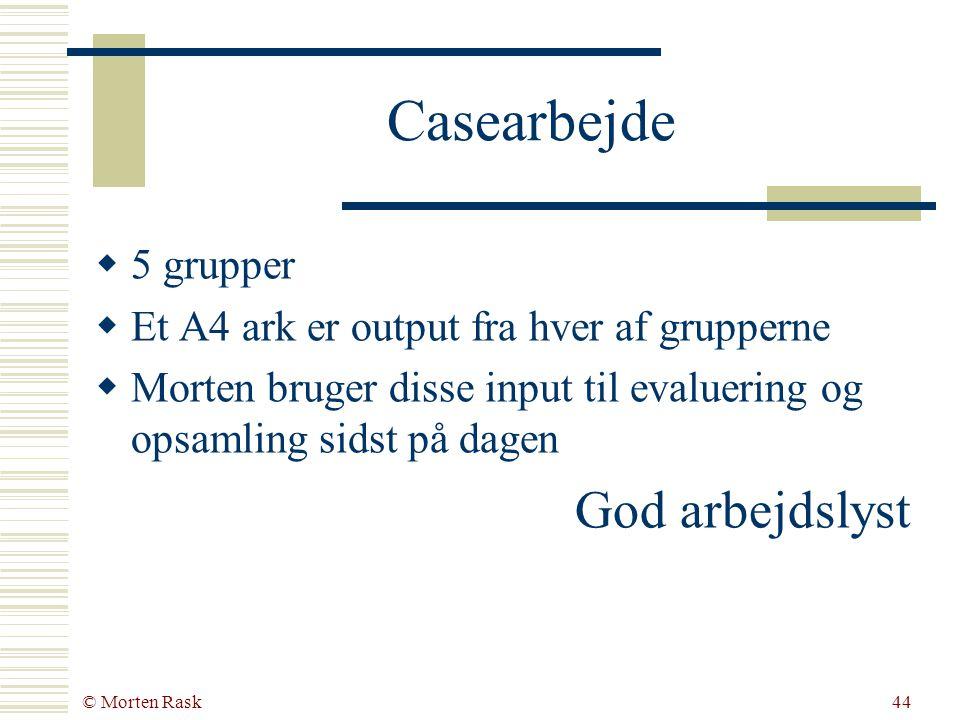 © Morten Rask43 Case: Flyt Holger Hvis vi skal have en ny hjemmeside: hvad skal vi satse på.