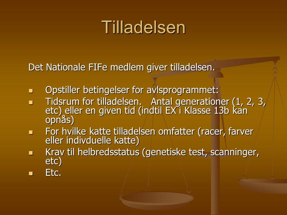 Tilladelsen Det Nationale FIFe medlem giver tilladelsen.