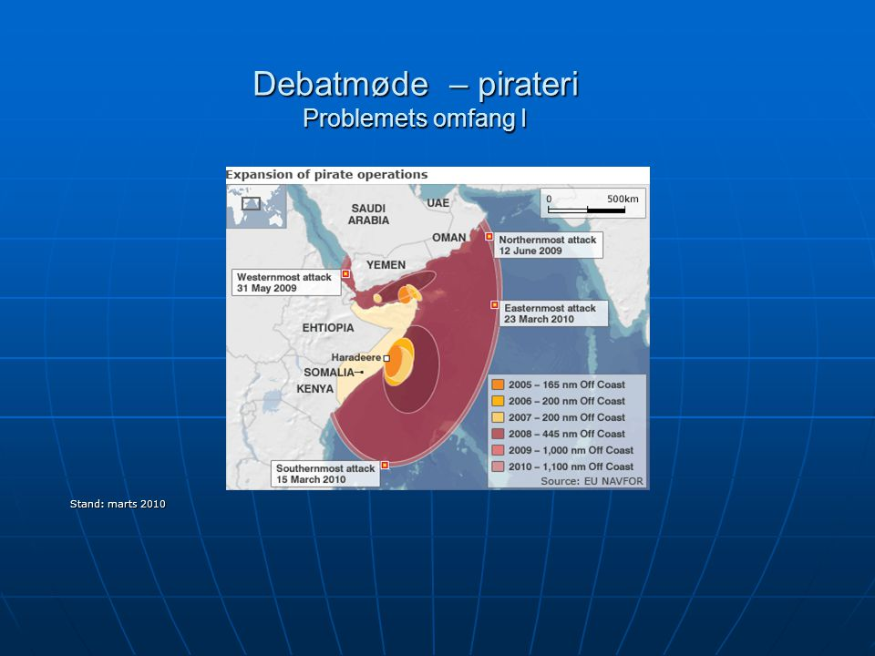 Debatmøde – pirateri Problemets omfang I Stand: marts 2010