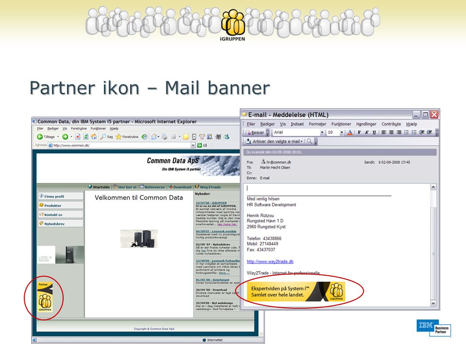 Partner ikon – Mail banner