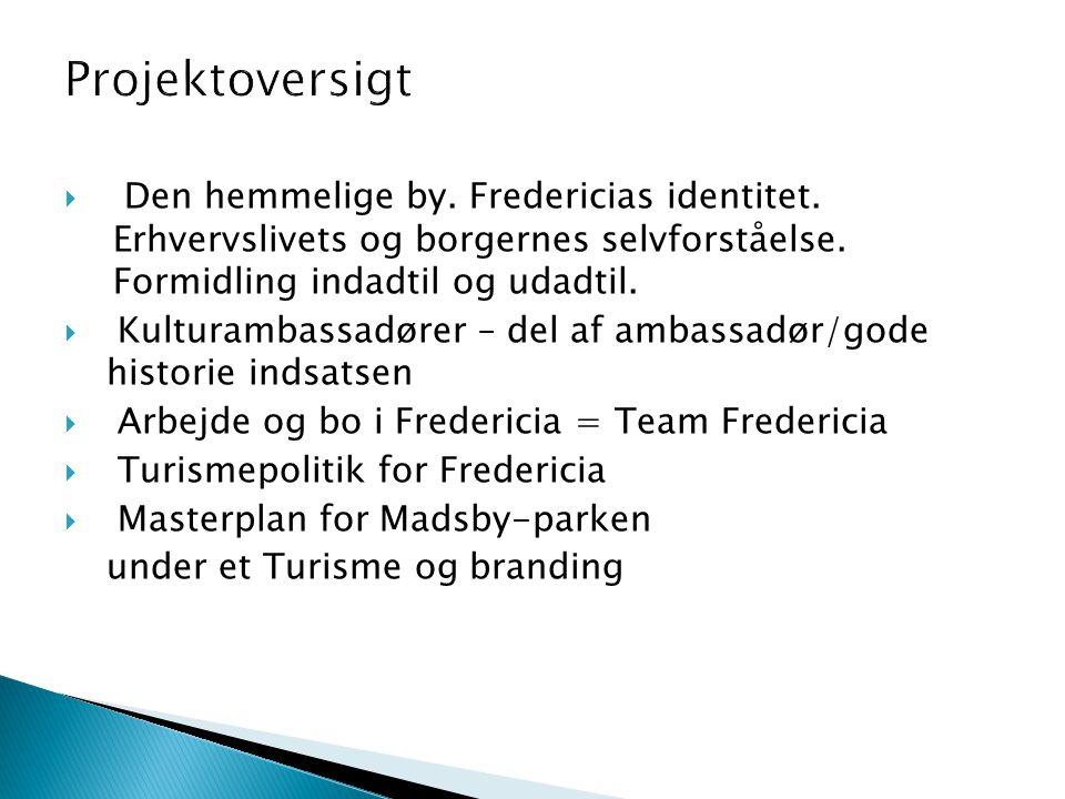  Den hemmelige by. Fredericias identitet. Erhvervslivets og borgernes selvforståelse.