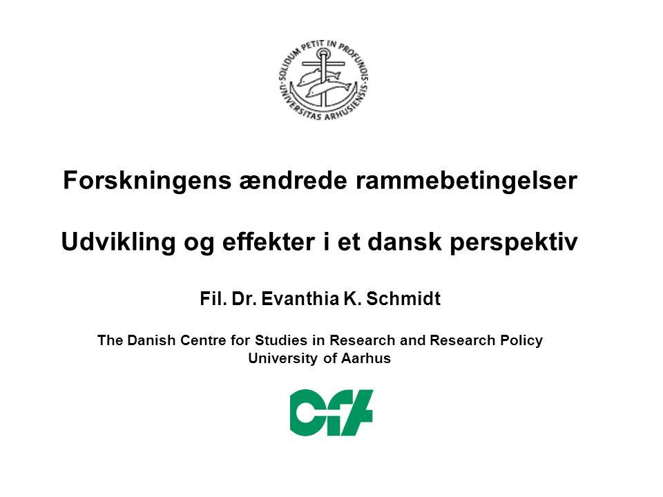 Forskningens ændrede rammebetingelser Udvikling og effekter i et dansk perspektiv Fil.