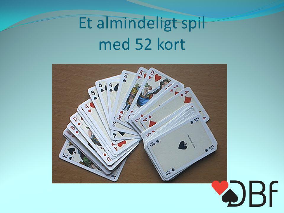 Et almindeligt spil med 52 kort