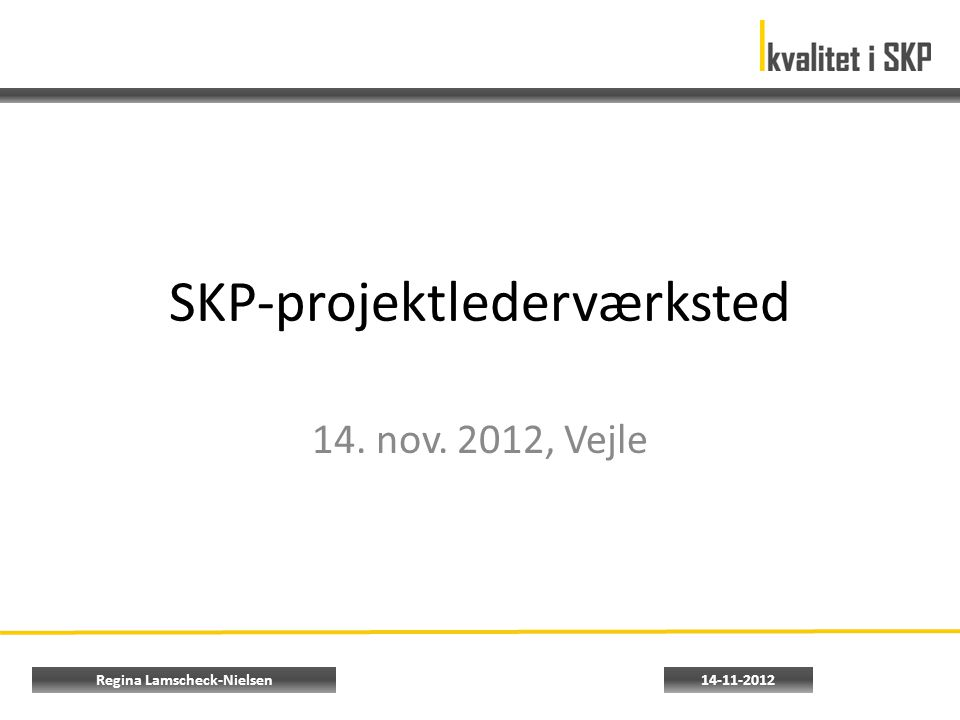SKP-projektlederværksted 14. nov. 2012, Vejle 14-11-2012Regina Lamscheck-Nielsen
