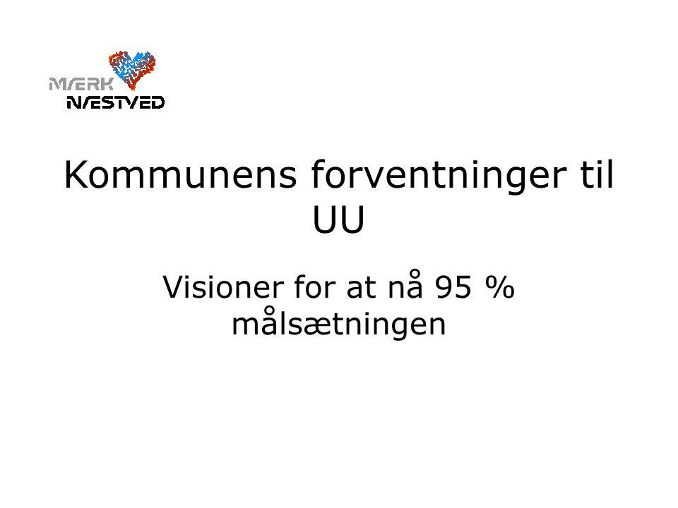 Kommunens forventninger til UU Visioner for at nå 95 % målsætningen